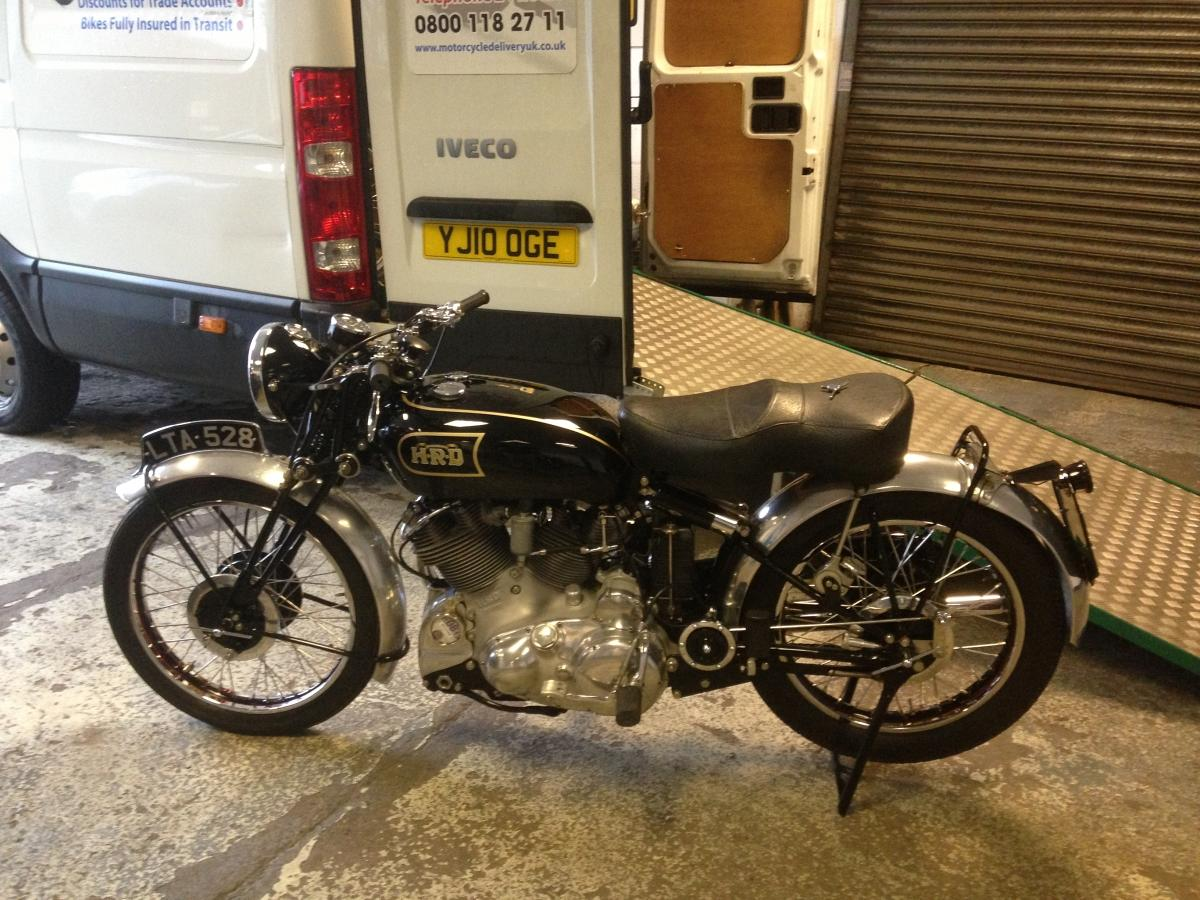 Classic motorcycle we Collected and delivered