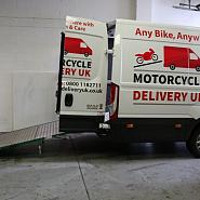 We transport motorbikes around the UK