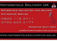 Motorcycle Delivery UK business card