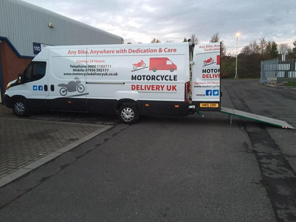 ce8599fea4 Motorcycle Transporter · Motorcycle Delivery UK office · Motorcycle  collection and delivery service across the uk · Professional motorcycle ...